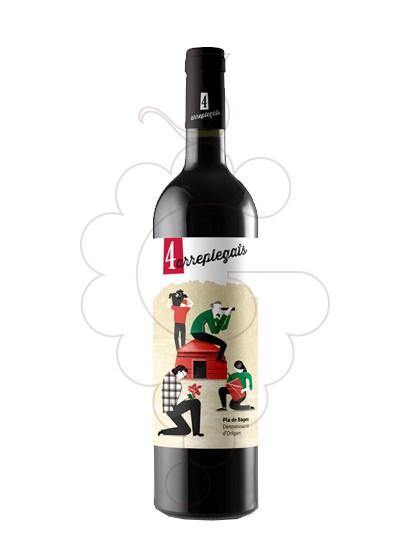 Foto 4 arreplegats negre 75 cl vino tinto