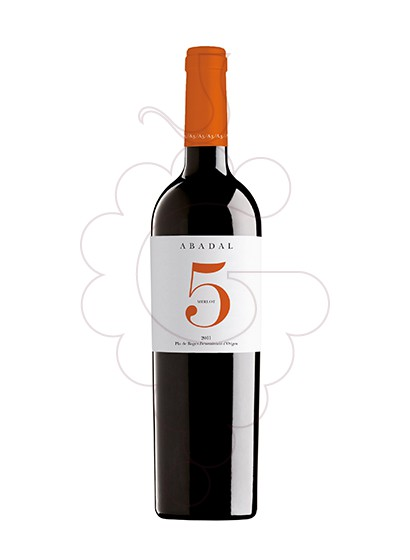 Foto Abadal 5 Merlot vino tinto