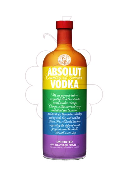 Foto Vodka Absolut Colors