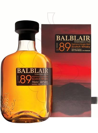 Foto Whisky Balblair Vintage 1989
