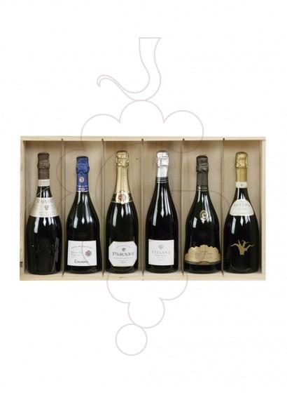 Foto Cajas Navidad Pack 5 Botellas Cava + Espumoso + Accesorios Vino