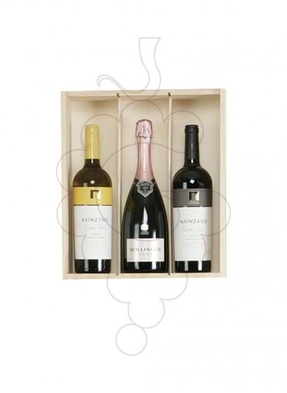 Foto Cajas Navidad Pack TOP:  2 Botellas de Vino + Champagne