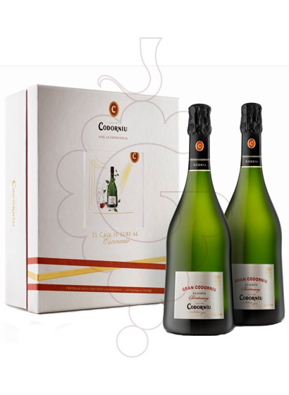 Foto Cajas regalo Gran Codorniu Chardonnay Pack 2 u